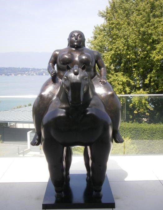 LADY ON A HORSE BY FERNANDO BOTERO