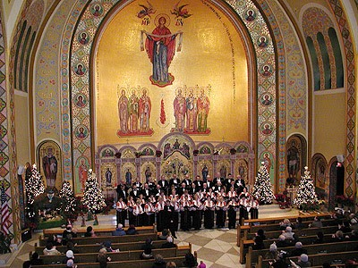 BYZANTIN MOSAICS AT ST GEORGE'S UKRAINIAN CATHOLIC CHURCH IN NEW YORK.